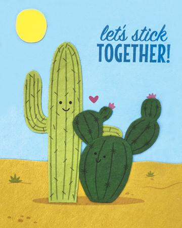 Let's Stick Together Card
