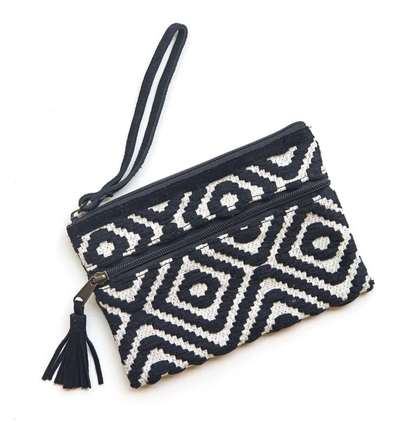 Meander Cotton Clutch