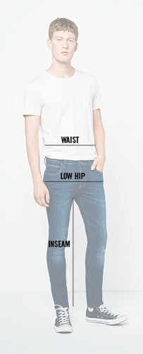 Jeans measurement diagram