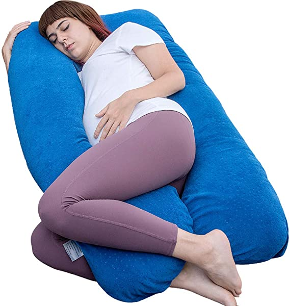 Pregnancy Pillow, Full Body Pillow, Sleeping Pillow for Pregnant Women (Dark Blue)