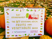 "Load image into Gallery viewer, Wall calendar New York local seasonal fruits and vegetables guide L12"" x W9"""