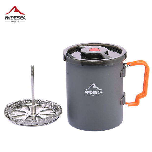 Camping Coffee Pot with French Press Outdoor Cup Mug