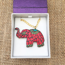 Load image into Gallery viewer, Red Elephant Necklace