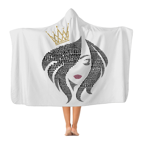 You Are the Queen - Plush Hooded Blanket