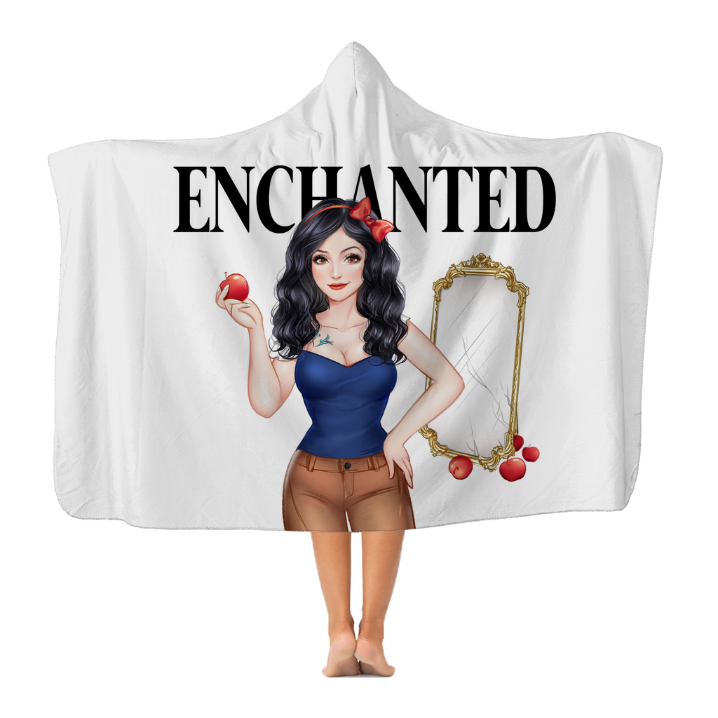 Snow White Plush Hooded Blanket