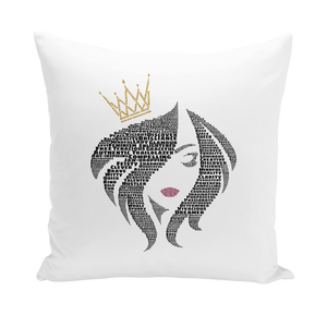 You Are the Queen - Canvas Cushion Cover