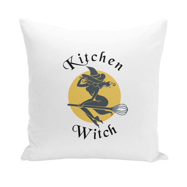 Kitchen Witch Canvas Cushion Cover