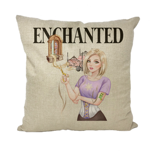Rapunzel Canvas Cushion Cover