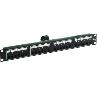 ICC Voice 6P2C Patch Panel with Male Telco in 24 Ports and 1 RMS