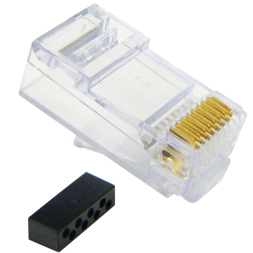 ICC CAT6 Solid/Stranded Modular Plug in 100 Pack