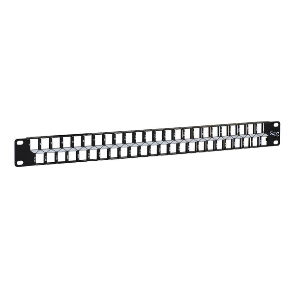 ICC Blank Patch Panel with 48 Ports and 1 RMS for HD Style