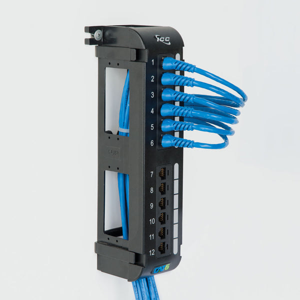 ICC CAT6 Vertical Patch Panel with 12 Ports