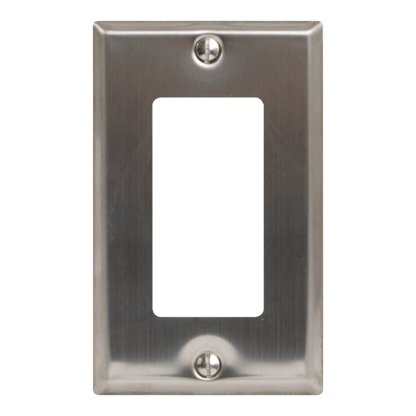 ICC Decorex Stainless Steel Faceplate with 1 Insert Space in Single Gang