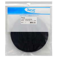 ICC VELCRO® Brand ONE-WRAP® Cable Tie Strap in Black in 100 PCS