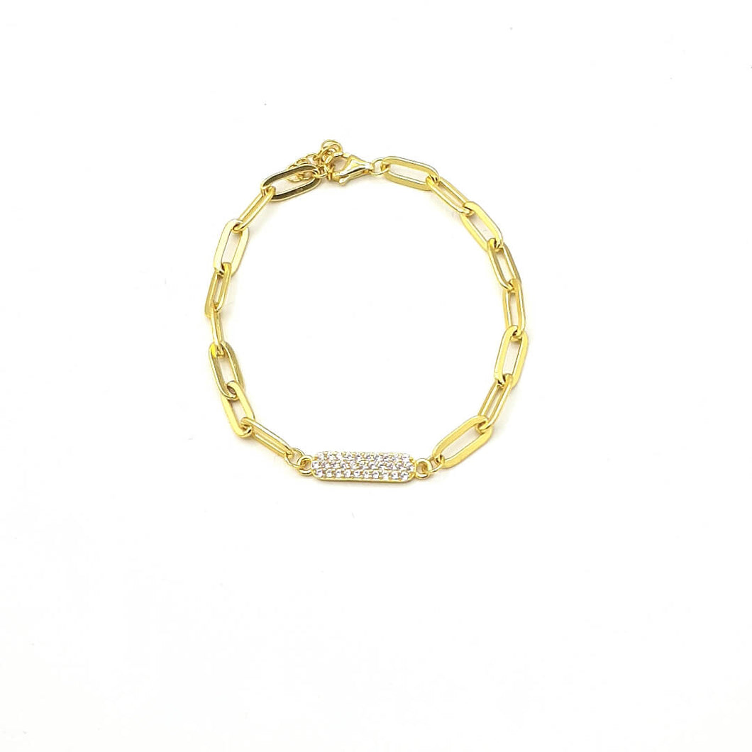 Armband Bicycle-chain Cristal Gold