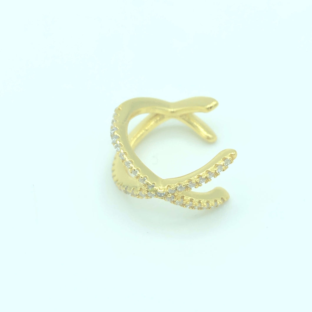 Ohrring Earcuff X Gold