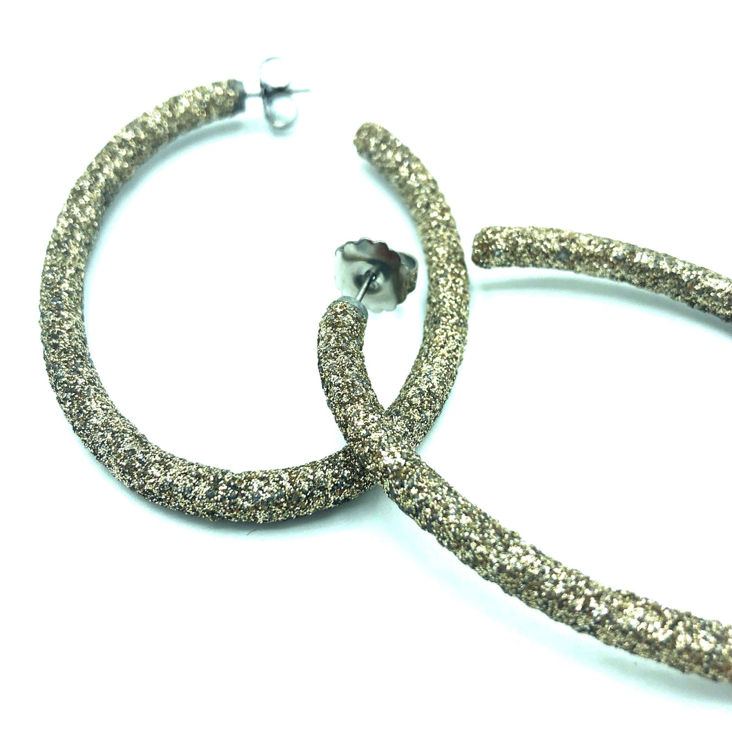 Ohrring Hoop Diamond-Dust Gold