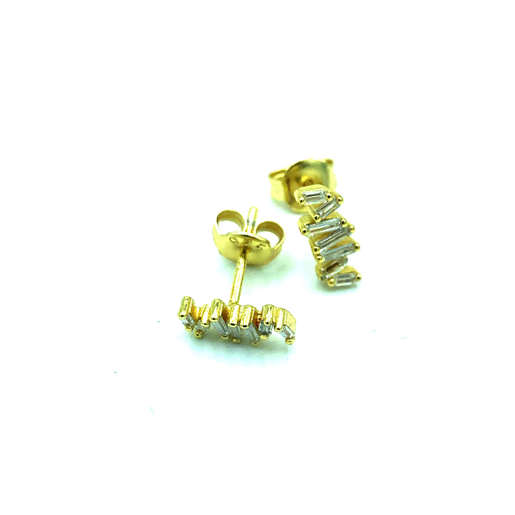 Ohrring Diamond Cut Gold