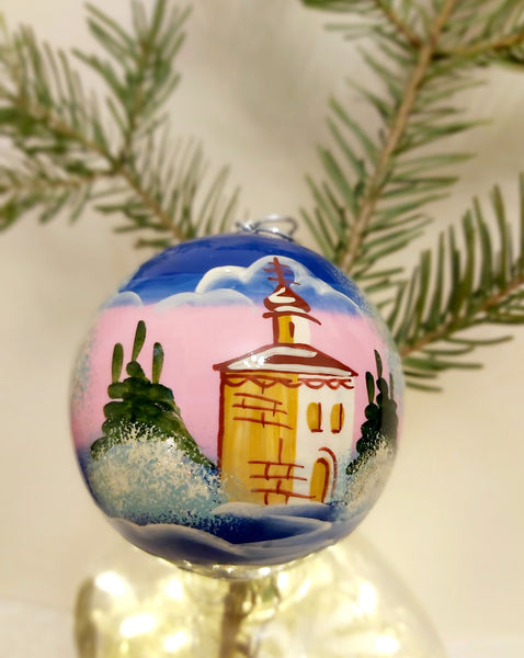 Scenic Large Bauble - Pink