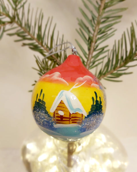Scenic Bauble - Yellow