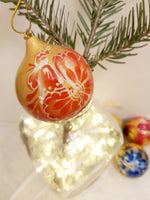 Rooster Christmas Bauble (orange)