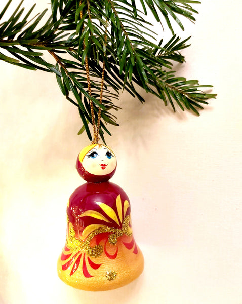 Russian Doll Bell Christmas Tree Ornament