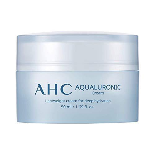 Aesthetic Hydration Cosmetics AHC Face Cream Aqualuronic Hydrating Triple Hyaluronic Acid Korean Skincare For Deep Hydration 1.69 oz