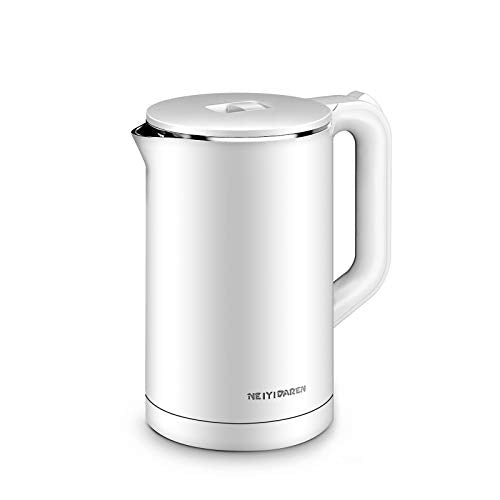 Electric Kettle, 1.7L 1500W Double Wall 100% Stainless Steel BPA-Free Cool Touch Tea Kettle Water Boiler with Overheating Protection, Cordless with Auto Shut-Off and Boil-Dry