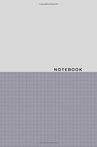 Notebook: Gray Squares minimalist notebook blank lined journal