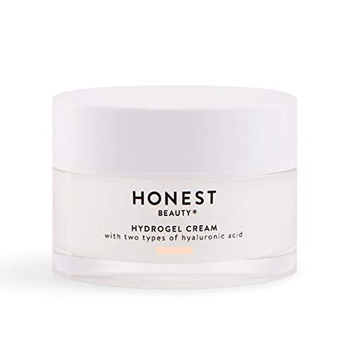Honest Beauty Hydrogel Cream with Two Types of Hyaluronic Acid & Squalane | Oil-Free, Synthetic Fragrance Free, Dermatologist Tested, Cruelty Free | 1.7 Fl. Oz