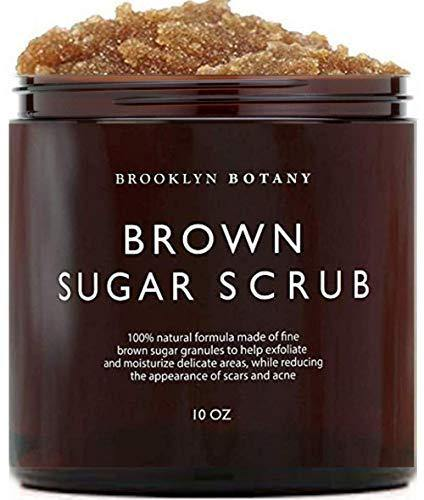 Brooklyn Botany Brown Sugar Body Scrub - Great as a Face Scrub & Exfoliating Body Scrub for Acne Scars, Stretch Marks, Foot Scrub, Great Gifts For Women - 10 oz