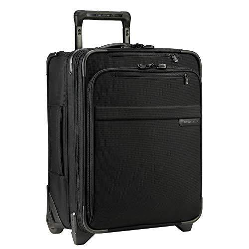 Briggs & Riley Baseline-Softside CX Expandable Carry-On Upright Luggage, Black, 19-Inch