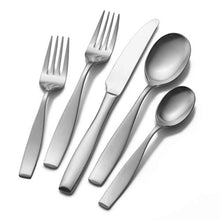 Load image into Gallery viewer, Mikasa Satin Loft 65-Piece 18/10 Stainless Steel Flatware Serving Utensil Set, Service for 12