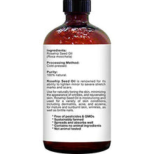 Load image into Gallery viewer, Majestic Pure Rosehip Oil for Face, Nails, Hair and Skin, Pure & Natural, Cold Pressed Premium Rose Hip Seed Oil, 4 oz