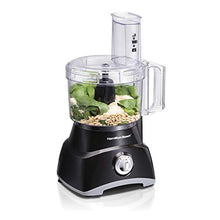 Load image into Gallery viewer, Hamilton Beach 8-Cup Compact Food Processor & Vegetable Chopper for Slicing, Shredding, Mincing, and Puree, 450 Watts, Black (70740)