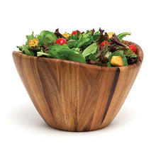 "Load image into Gallery viewer, Lipper International Acacia Wave Serving Bowl for Fruits or Salads, Large, 12"" Diameter x 7"" Height, Single Bowl"