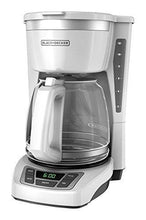 Load image into Gallery viewer, BLACK+DECKER 12-Cup Programmable Coffeemaker, White, CM1160W