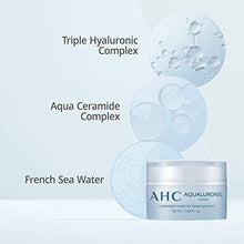 Load image into Gallery viewer, Aesthetic Hydration Cosmetics AHC Face Cream Aqualuronic Hydrating Triple Hyaluronic Acid Korean Skincare For Deep Hydration 1.69 oz