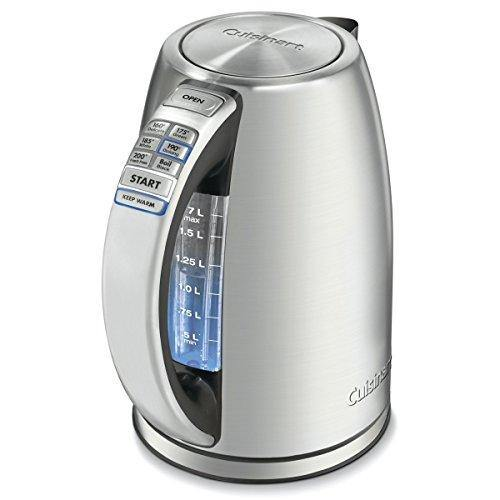 Cuisinart CPK-17 PerfecTemp 1.7-Liter Stainless Steel Cordless Electric kettle, 1.7 L, Silver