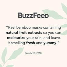 Load image into Gallery viewer, Rael Bamboo Face Sheet Mask - (Vitamin C, 5 Sheets) Vita Bright Real Natural Facial Mask With Vitamin C For Brightening by Rael