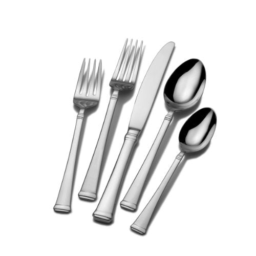 Mikasa Harmony 65-Piece 18/10 Stainless Steel Flatware Serving Utensil Set, Silver