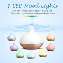 Load image into Gallery viewer, ASAKUKI 300ML Premium, Essential Oil Diffuser, Quiet 5-in-1 Humidifier, Natural Home Fragrance Diffuser with 7 LED Color Changing Light and Easy to Use