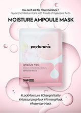 Load image into Gallery viewer, SNP PREP - Peptaronic Ampoule Korean Sheet Mask - Maximum Hydration & Moisture for All Dry Skin - a Full Combination of Peptides & Hyaluronic Acids - 10 Sheets