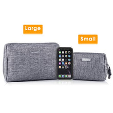 Load image into Gallery viewer, Large Makeup Bag Zipper Pouch Travel Cosmetic Organizer for Women and Girls (Large, Grey)