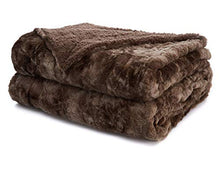 Load image into Gallery viewer, The Connecticut Home Company Faux Fur Bed Throw Blanket, King Size, 108x90, Many Colors, Soft Large Luxury Reversible Blankets, Warm Hypoallergenic Washable Throws for Couch or Beds, Brown Tie Dye