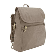 Load image into Gallery viewer, Travelon: Anti-Theft Signature Nylon Slim Backpack - Sable