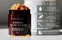 Load image into Gallery viewer, Brooklyn Botany Brown Sugar Body Scrub - Great as a Face Scrub & Exfoliating Body Scrub for Acne Scars, Stretch Marks, Foot Scrub, Great Gifts For Women - 10 oz