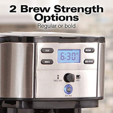 Load image into Gallery viewer, Hamilton Beach 2-Way Brewer Coffee Maker, Single-Serve and 12-Cup Pot, Stainless Steel (49980A), Carafe