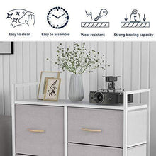 Load image into Gallery viewer, Bizroma Heightened Feet and Wall Nails Organizer Furniture Storage Drawer Dressers for Bedroom, Closet, Entryway, Hallway, Nursery Room-Light Gray/White