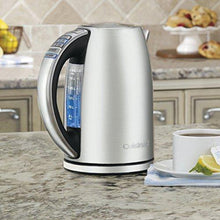 Load image into Gallery viewer, Cuisinart CPK-17 PerfecTemp 1.7-Liter Stainless Steel Cordless Electric kettle, 1.7 L, Silver